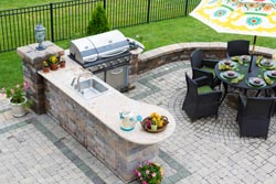 Boston MA outdoor bbq Granite kitchen - Acton Mass Atlantis Marble and Granite